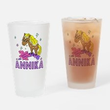 I Dream Of Ponies Annika Drinking Glass