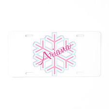 Ariana Snowflake Personalized Aluminum License Pla