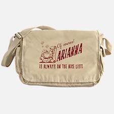 Nice List Arianna Christmas Messenger Bag