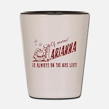 Nice List Arianna Christmas Shot Glass