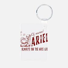 Nice List Ariel Christmas Keychains