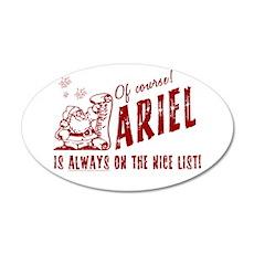 Nice List Ariel Christmas 22x14 Oval Wall Peel