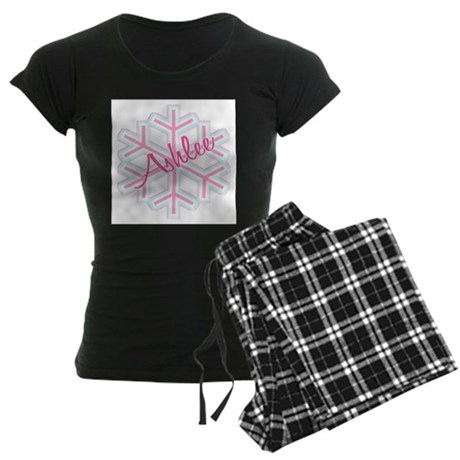 Ashlee Snowflake Personalized Women's Dark Pajamas