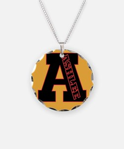 ASHLEE Letterman design Red/b Necklace