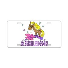 I Dream Of Ponies Ashleigh Aluminum License Plate
