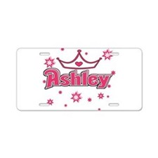 Ashley Princess Crown Star Aluminum License Plate
