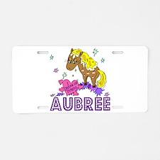 I Dream Of Ponies Aubree Aluminum License Plate