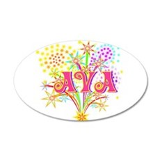 Sparkle Celebration Ava 22x14 Oval Wall Peel