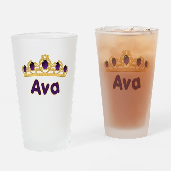 Princess Tiara Ava Personaliz Drinking Glass