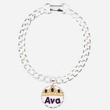 Princess Tiara Ava Personaliz Bracelet