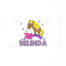 I Dream of Ponies Belinda Aluminum License Plate