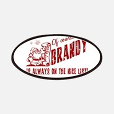 Nice List Brandy Christmas Patches
