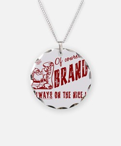 Nice List Brandy Christmas Necklace