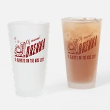 Nice List Brenna Christmas Drinking Glass