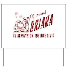 Nice List Briana Christmas Yard Sign