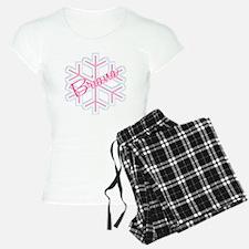 Briana Snowflake Personalized Pajamas