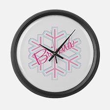 Briana Snowflake Personalized Large Wall Clock