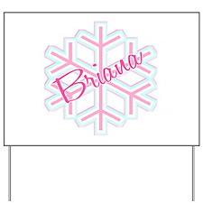 Briana Snowflake Personalized Yard Sign