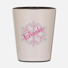Brooke Snowflake Personalized Shot Glass