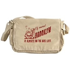 Nice List Brooklyn Christmas Messenger Bag