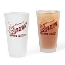 Nice List Brooklyn Christmas Drinking Glass