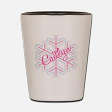 Caitlyn Snowflake Personalize Shot Glass