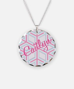 Caitlyn Snowflake Personalize Necklace