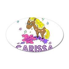 I Dream Of Ponies Carissa 22x14 Oval Wall Peel