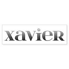 Xavier Carved Metal Bumper Bumper Sticker