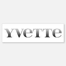 Yvette Carved Metal Bumper Bumper Bumper Sticker
