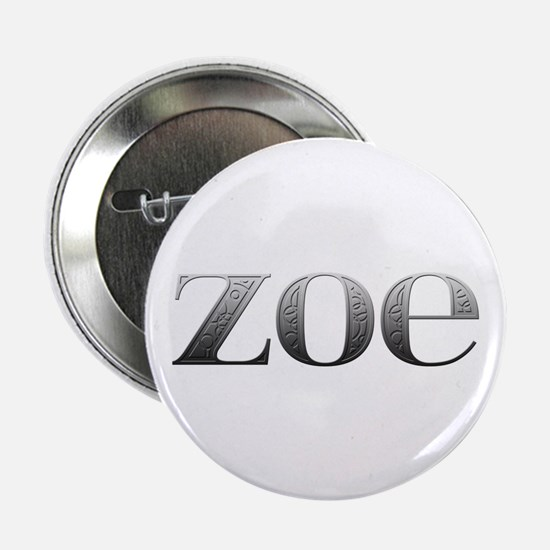 Zoe Carved Metal Button