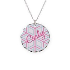 Carley Snowflake Personalized Necklace