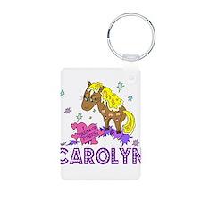 I Dream Of Ponies Carolyn Aluminum Photo Keychain