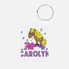 I Dream Of Ponies Carolyn Aluminum Photo Keychain