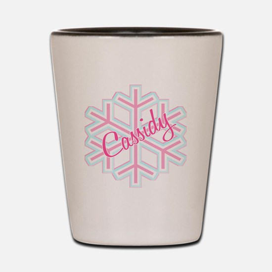 Cassidy Snowflake Personalize Shot Glass