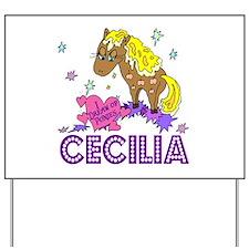 I Dream Of Ponies Cecilia Yard Sign