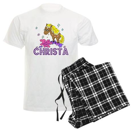I Dream Of Ponies Christa Men's Light Pajamas