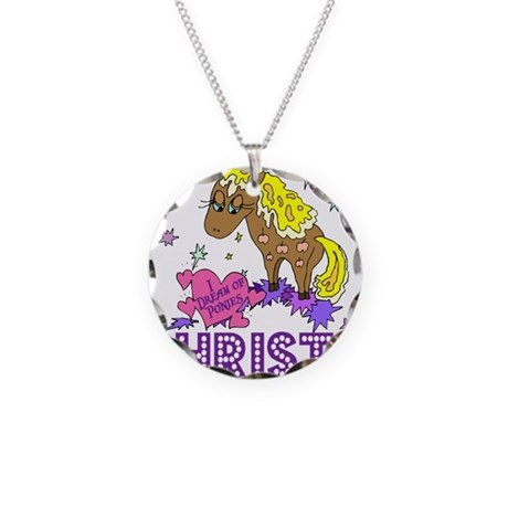 I Dream Of Ponies Christa Necklace Circle Charm