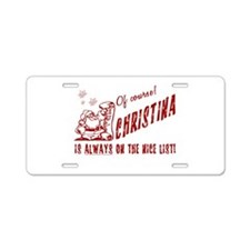 Nice List Christina Christmas Aluminum License Pla