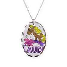 I Dream Of Ponies Claudia Necklace Oval Charm