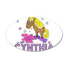 I Dream Of Ponies Cynthia 22x14 Oval Wall Peel