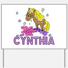I Dream Of Ponies Cynthia Yard Sign
