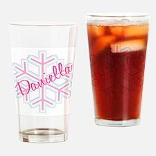 Daniella Snowflake Personaliz Drinking Glass