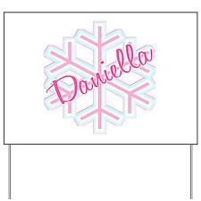 Daniella Snowflake Personaliz Yard Sign