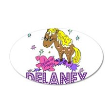 I Dream Of Ponies Delaney 22x14 Oval Wall Peel