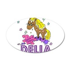 I Dream Of Ponies Delia 22x14 Oval Wall Peel