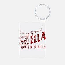Nice List Ella Christmas Keychains