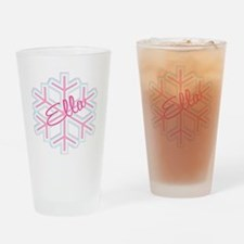Ella Snowflake Personalized Drinking Glass