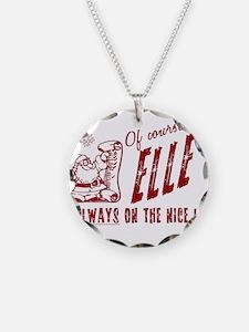 Nice List Elle Christmas Necklace