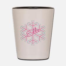 Elle Snowflake Personalized Shot Glass